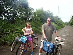 Photo: Mark and Genevieve on the road outside Puerto Jimenez
