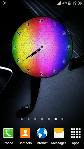 Rainbow Clock Widget