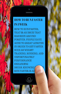 Download How to Run Faster for Windows Phone apk screenshot 1