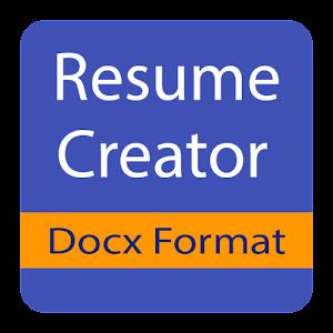 docx resume creator