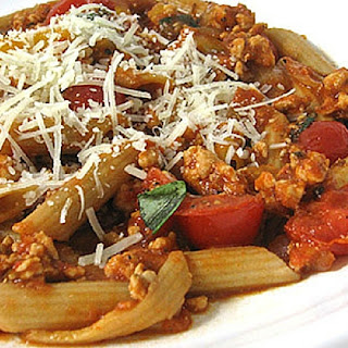 Low Calorie Penne Arrabiatta with Turkey Sausage