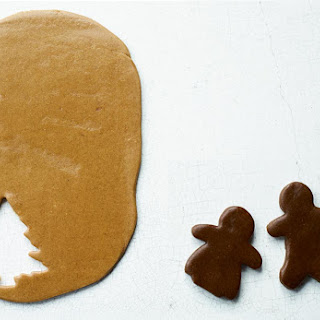 Light and Dark Gingerbread Cookies