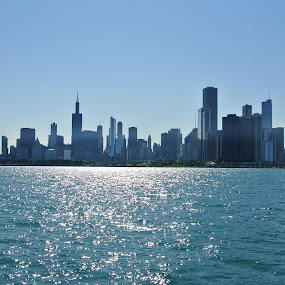 Chicago from the Lake Michigan by Wesly Sinulingga - Landscapes Waterscapes