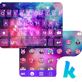 Glitter Galaxy Kika Keyboard