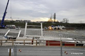 Photo: Bildmitte: Kranportale von Brunnhuber für die TBM