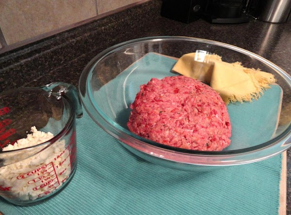 Feta crumbled cheese- add to meat mix