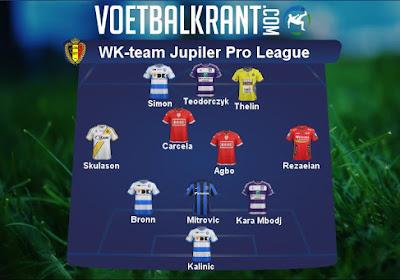 Dit is ons droomelftal van spelers uit de Jupiler Pro League op het WK, met Kalinic, Thelin, Agbo, Carcela, Mitrovic, Skulason, Rezaian voor Gent, Lokeren, Oostende, Club Brugge, Standard en Anderlecht