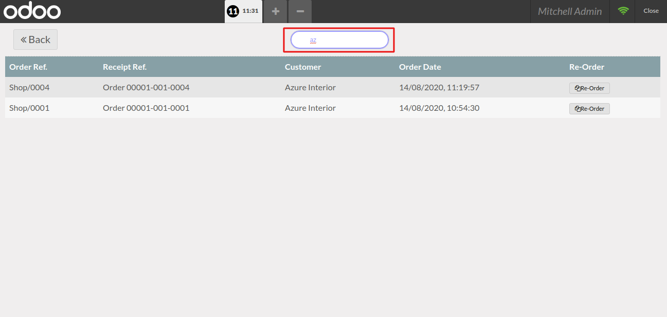 POS user can also search for the order by the name of any particular customer by using Odoo POS order history & re-Order module.
