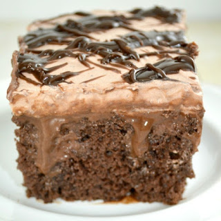 Quadruple Chocolate Poke Cake aka Death By Chocolate Poke Cake!