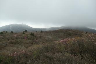 国見岳から御在所岳方面(ガスが…)