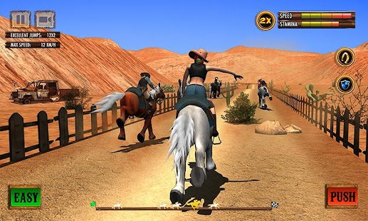 Texas Wild Horse Race 3D Screenshot
