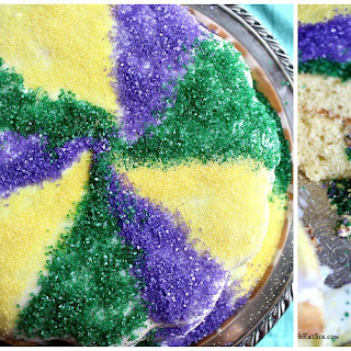 Mardi Gras King Coffee Cake with Fillables Cake Pans.