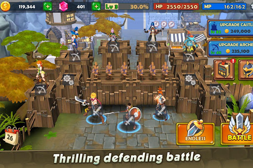 Code Triche Castle Rush: Hero defender & Idle defense APK MOD (Astuce) screenshots 3