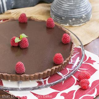 Dark Chocolate Tart #ChoctoberFest