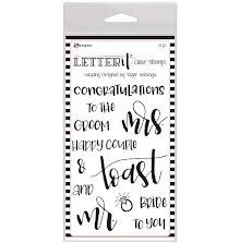 Ranger Letter It Clear Stamp Set 4X6 - Wedding