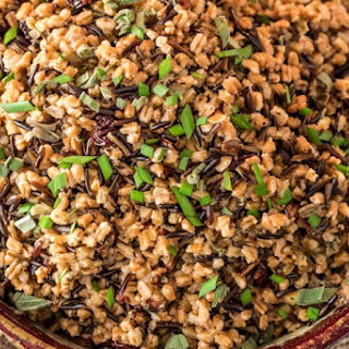 Pressure Cooker Wild Rice and Farro Pilaf.