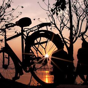 Man & his companion. by Debasish Naskar - Transportation Bicycles ( cycle, companion, man )