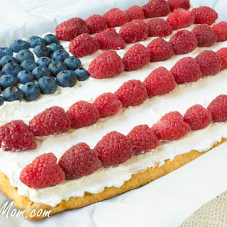 Low Carb Patriotic Dessert Pizza (Grain Free)