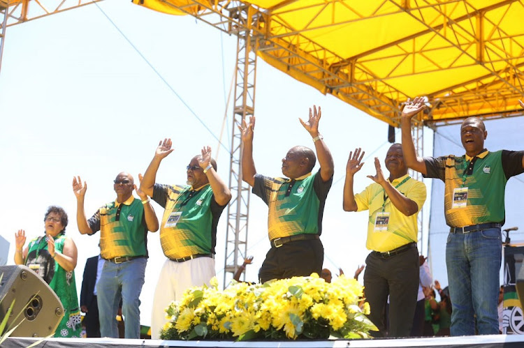 The ANC's new top six; Deputy Secretary-General Jesse Duarte, Secretary-General Ace Magashule, National Chairperson Gwede Mantashe, President Cyril Ramaphosa, Deputy president David Mabuza and Treasurer- General Paul Mashatile.