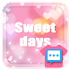 Sweet days Next SMS skin - Androidアプリ