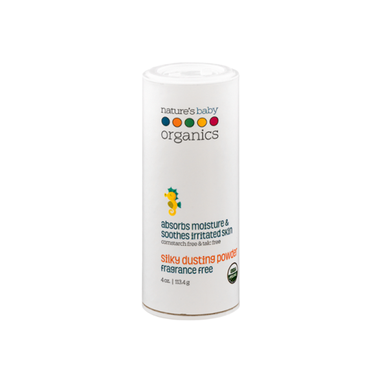 Nature's Baby Organics Silky Dusting Powder 4oz - A Rose/Chamomile USDA 95% by GREEN WHEEL INTERNATIONAL SDN BHD