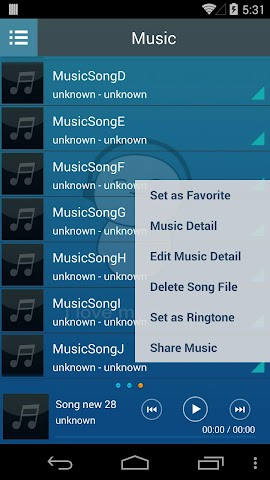 android Mp3 Music Player Screenshot 3