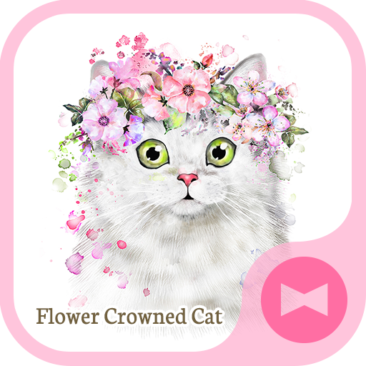 Cute Wallpaper Flower Crowned Cat Theme Icon