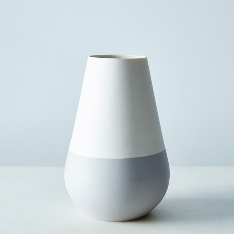 White and Gray Ceramic Vase