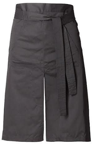 Midjeförkläde i polyester/bomull Slits fram.