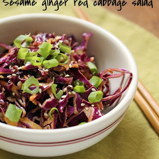 Sesame Ginger Red Cabbage Salad