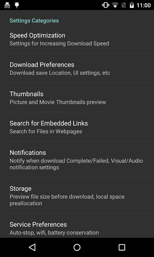 Screenshots of Turbo Download Manager for iPhone
