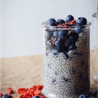 Brain Fuel For Dessert!? Vanilla Blueberry Chia Seed Pudding.