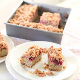 Gluten Free Almond And Raspberry Coffee Cake.