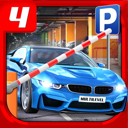 Multi Level 4 Parking Icon