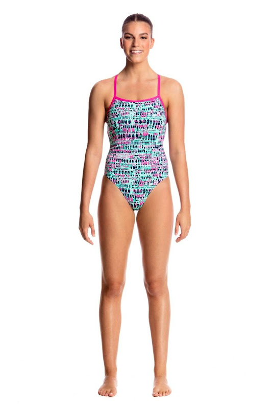 Funkita Ladies Strapped In One Piece Minty Madness - FS38L01738