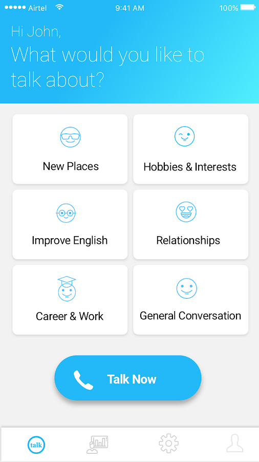 Opentalk: Social Voice Calling App- screenshot