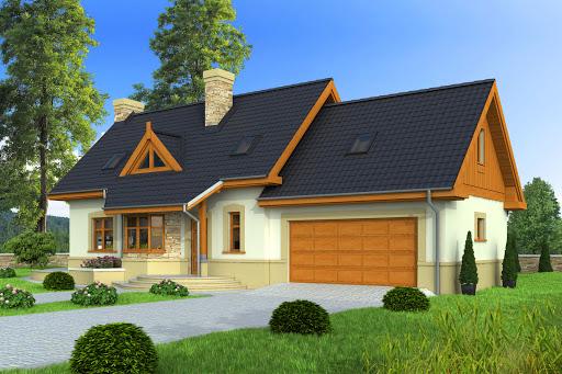 projekt Agatka II z garażem 2-st. A1