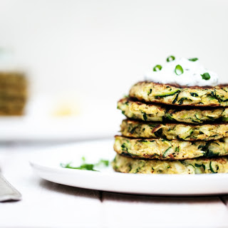 Zucchini Fritters with Lemon-Dill Yogurt Sauce