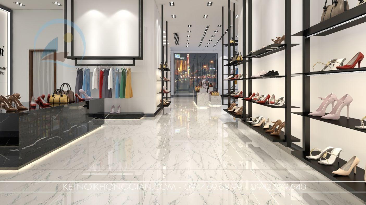 mẫu giá kệ trưng bày giày đẹp