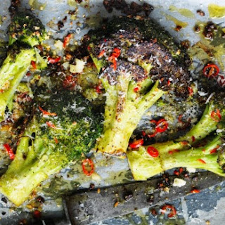 Roasted Broccoli With Chilli, Garlic And Parmesan.