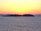 Posta de sol des de Mykonos