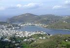 Vistes de Patmos des del monestir