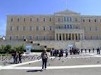 El parlament, situat a la plaça Sintagma