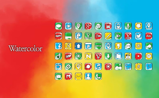Water Color launcher theme