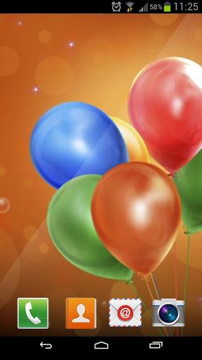 Bunch Of Balloons Live Wallpap