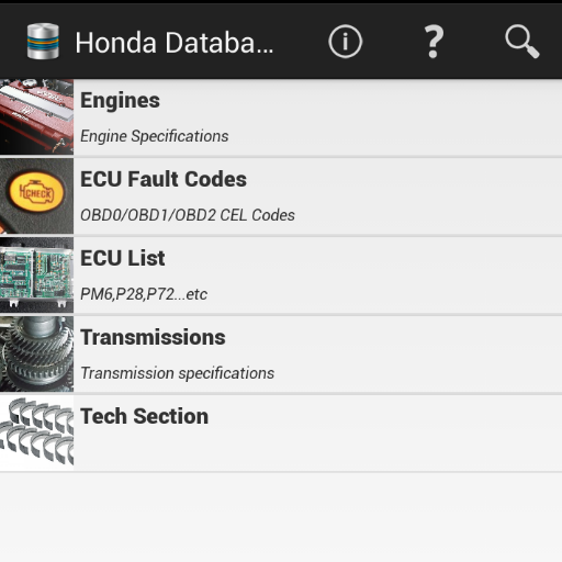 HONDAtabase - Apps on Google Play on