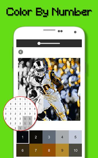 American Football Player Color By Number - Pixel apktram screenshots 3