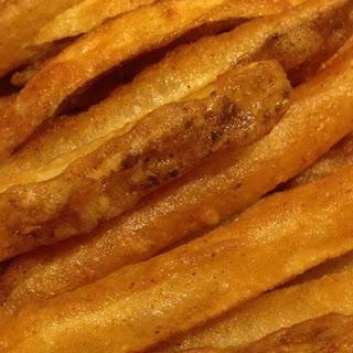 Homemade Crispy Seasoned French Fries.