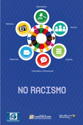 No racismo: captura de pantalla