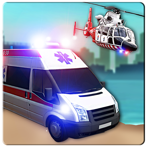 City Flying Ambulance simulator 2019: Flying Games